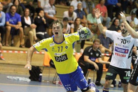 IKKE HELT FORNØYD: Magnus Abelvik Rød var ikke helt fornøyd da det raknet i sluttminuttene.