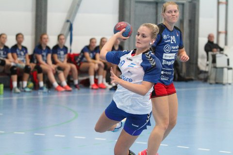 TRE MÅL: Mie Alræk scoret tre mål fra streken mot Hønefoss.