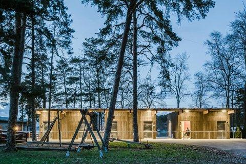 UTMERKER SEG: Garderobeanlegget i Solvik var i 2016 nominert i Oslo bys arkitekturkonkurranse. Nå har det                            vunnet DOGAs innovasjonspris for universell utforming. Arkivfoto: Damian Heinisch/Flux Arkitekter