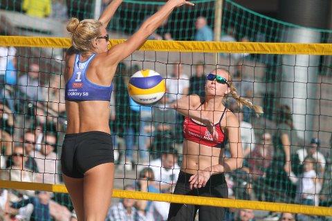 FLYTTET TIL OSLO: Ane Guro Tveit Hjortland flyttet fra Bergen til Oslo for å satse beach, og spille for Oslo Volley.