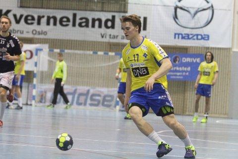 TOPPSCORER: Unggutten Fredrik Løvberg ble toppscorer med fem mål på seks skudd.