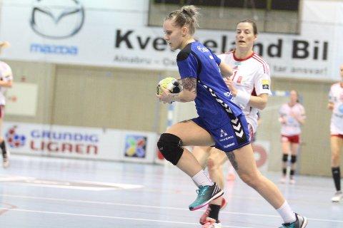 TOPPSCORER: Venstrekanten June Bøttger ble Oppsals toppscorer med sju mål på tolv skudd.