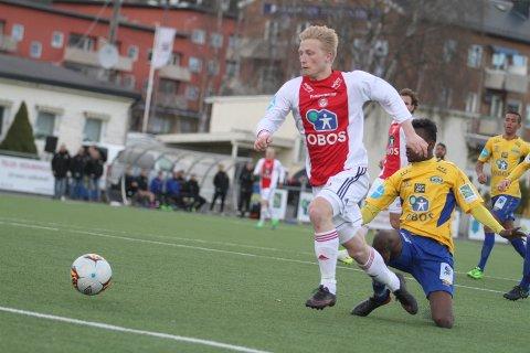 PÅ SCORINGSLISTEN: Emil Ekblom har funnet veien til i mål i de siste kampene, kanskje blir det scoring mot Molde i kveld også.