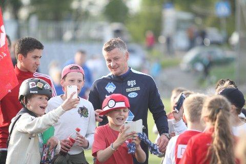 POPULÆR: Den tidligere Manchester United-helten, Ole Gunnar Solskjær, var utvilsomt mest populær på KFUM Arena.
