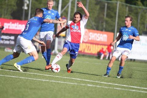 PÅ GANG: Stian Sortevik og KFUM/Oslo slo Raufoss 2-0 på bortebane.