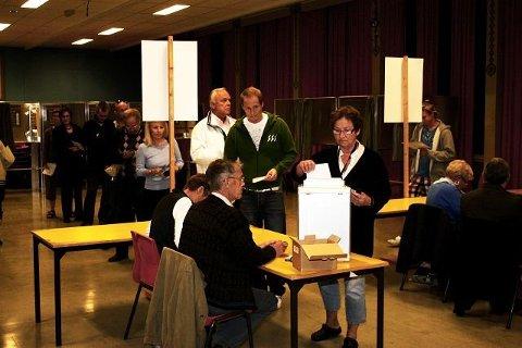 NORDSETER: Bildet er fra stortingsvalget i 2009. Da var det kø for å stemme på Nordseter skole.