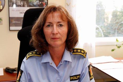 GJENGANGERE: Politiinspektør Janne Birgitta Stømner sier politiet har utarbeidet en oversikt på mellom 30–40 unge gjengangere under 18 år, som er registrert hos politiet med fire straffesaker eller mer. Arkivfoto: Øystein Dahl Johansen