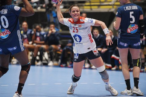 EM-KLAR? Thea Mørk scoret et mål på ett skudd mot Frankrike. Nå vil hun spille EM.