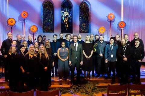 JULEKONSERTER: Stjernekamp-vinner Adam Douglas hadde fire konserter i Nordstrand kirke julen 2017.