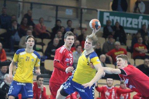 TAPTE NØKKELKAMP: Trym Korperud Johnsen og BSK tapte 32-26 i onsdagens kamp mot tabellnabo Haslum.