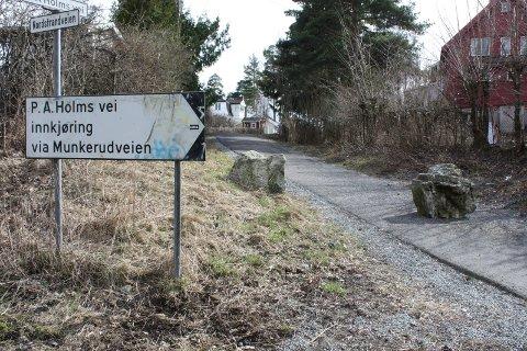 P.A. Holmsvei: En gutt ble ranet i denne veien, som strekker seg her fra Nordstrandveien til Brattvollveien bak Munkerud skole. Arkivfoto