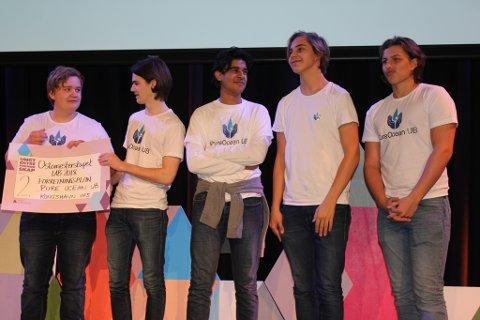Pure Ocean: Kongshavn-bedriften fikk 2. plass for sin forretningsplan.