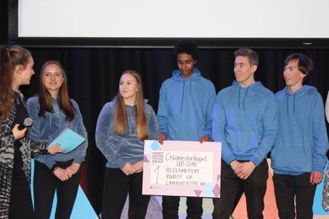 Purify: Ungdomsbedriften fra Lambertseter hadde laget den beste reklamefilmen.