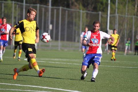 NESTEN: Kaptein Stian Sortevik fikk bestemannsprisen i en kamp KFUM/Oslo var fullt på høyde med Lillestrøm.