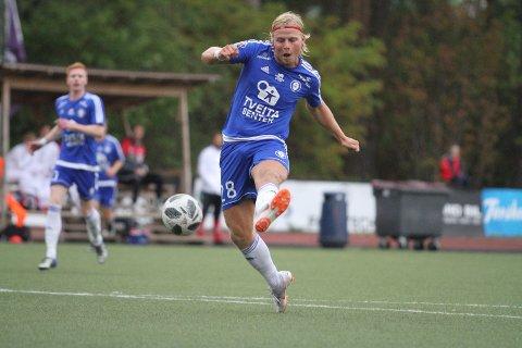 TO MÅL: Lasse Bransdal scoret to ganger mot Spjelkavik, og er toppscorer i ligaen med 13 seriemål.