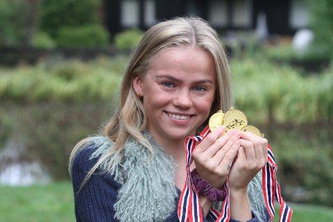 GULLJENTE: Andrea Rooth fra Nordstrand var ikke snauere enn at hun vant tre gull under UM i Trondheim nylig.