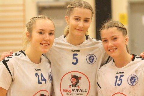 TALENTER: Sandra Thorsen (venstre), Lea Tdemann Stenvik og Emilie Thorvaldsen Gresmo er tre av talentene på Oppsals dyktige 03-årgang.