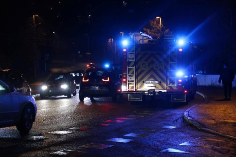 TRAFIKKULYKKE: Nødetatene er i Nordstrandveien i forbindelse med en trafikkulykke.