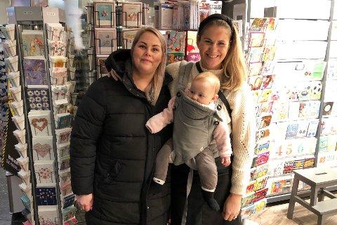 VIL IKKE KASTE: Søstrene Janne (t. v) og Tine Thorsås er opptatt av miljøet. På magen: Tines datter Solveig (6 måneder). Foto: Øystein Eian