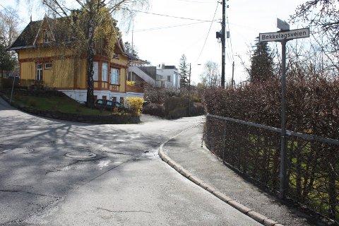 GATE MED STOR FORMUE: I krysset her hvor Bekkelagsveien møter Solveien starter også det som er blant postnumrene i Norge med høyest inntekt og formue. Arkivfoto