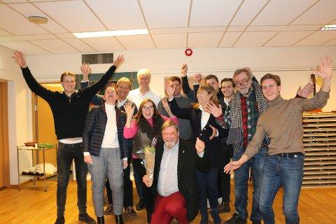 Høyres kandidater til bydelsutvalget. Arve Edvardsen i midten.
