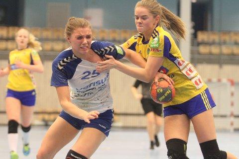 LYKKES IKKE HELT: Silje Alvestad og NIFs J16 fikk bare med seg tre av seks poeng fra helgens runde i Bringserien på hjemmebane.