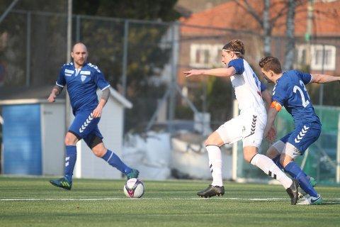 SCORET: Markus Woldsund var på hugget mot Kolbotn, og scoret da Nordstrand vant 5-0.