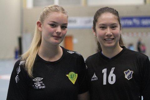 NYE SPILLERE: Mie Elen Rakstad (venstre) fra Fjellhammer og Vilde Tornes Finneide fra Stabæk spiller for Oppsal kommende sesong.