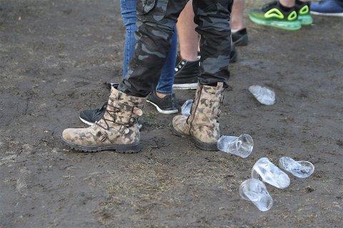 FRA GRESS TIL GJØRME: Ekebergsletta fikk seg en real omgang etter at Tons of Rock hadde festival der tidligere i sommer.