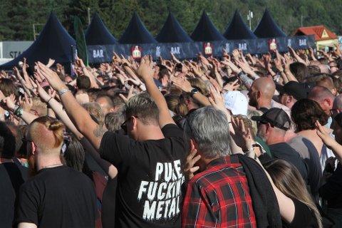 Det blir ikke rockefestival på Ekebergsletta igjen før i 2022. Her fra 2019-utgaven.