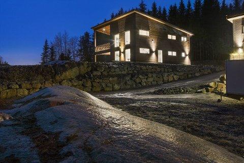 Den nyoppførte boligen med utsikt over Langen, kan sette en solid prisrekord på Siggerud.