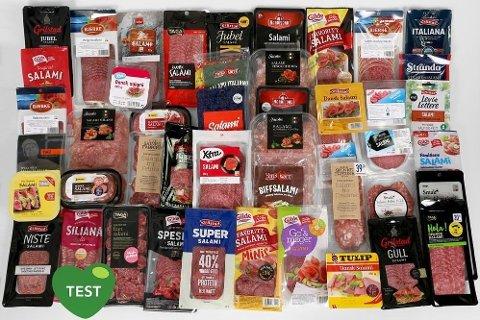Noen typer oppskåret salami inneholder dobbelt så mye salt som andre. (Foto: Erik Helgeneset/Nettavisen)