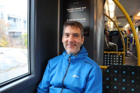 Øyvind Sandve (39) fikk nettopp vite at trikken stopper på Oslo Hospital.