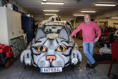 SOLGT: Bård Bergsjø har solgt sin unike kattebil.