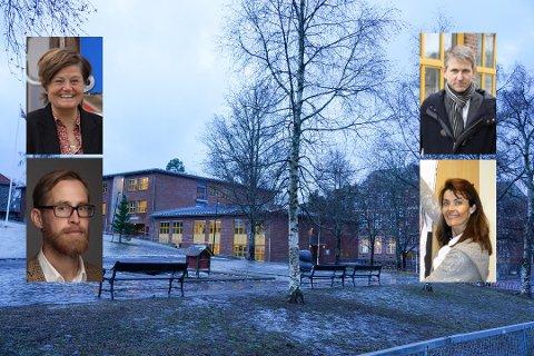ANNERLEDES SKOLEUKE: Denne ukene er barneskolene i Oslo på rødt nivå. Fra venstre: Bitten Koch (rektor Lambertseter skole), Christian Gulnes (rektor Nordstrand skole), Peter Streijffert (rektor Manglerud skole) og Anette Reme (rektor Bekkelaget skole).