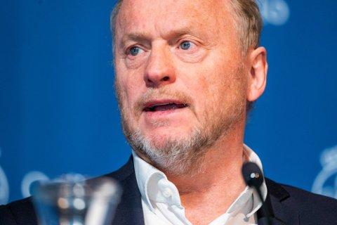 Byrådsleder Raymond Johansen (Ap) orienterer tirsdag om koronasituasjonen og hvilke tiltak som skal gjelde fremover i Oslo. Foto: Håkon Mosvold Larsen / NTB