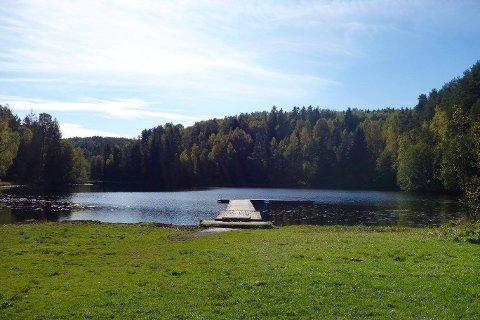 Østmarka er full av kjente og mindre kjente badesteder. Her fra Skraperudtjern.