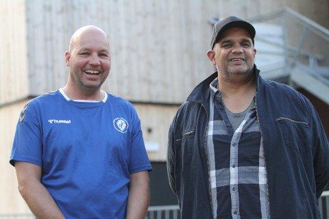 GLEDER SEG: Styreleder i Oppsal Håndball, Cato Tangen (venstre) gleder seg til å få Rune Ali Zohaur med på laget som ny daglig leder.