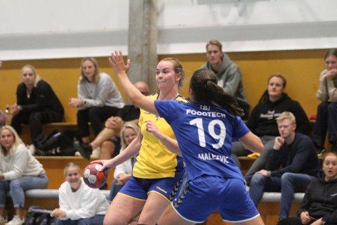 TOPPSCORER: Rutinerte Martine Welfler ble BSKs toppscorer med fire mål i kampen mot Lea Janicijevic Malesevic og Oppsal.