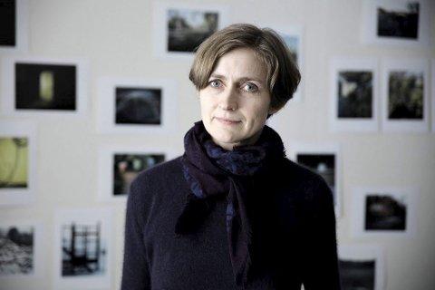 Kunst: Fotokunstnar Line Bøhmer Løkken tok utgangspunkt i livet og arbeidet til Hulda Garborg da ho arbeidde med kunstprosjektet. Foto: KORO/ Tor Willy Ingebrigtsen