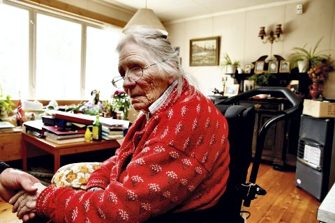 90 år: Gunhild Øihusom Giverhaug bor fremdeles hjemme i en alder av 90.