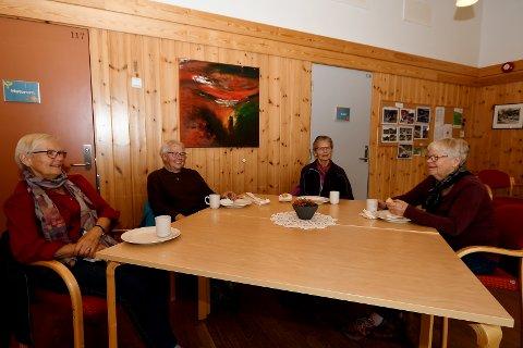 Kari Runningen, Mildri Olsen, Ingfrid Auale og Kari Austrem  deltok på trafikkdag i Vågå.