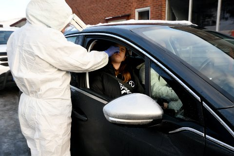 Linnea Fransplass har forkjølelsessymptomer og fant ut at det var greit å ta en test.