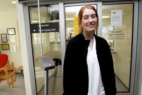 Martine Øien har funne seg godt til rette på Vågå Helsesenter