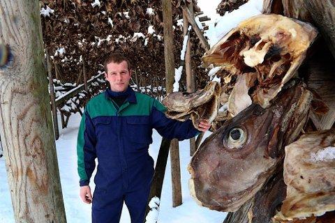 Driftsleder Jørgen Pedersen ved Nergårds fiskebruk på Grunnfarnes.