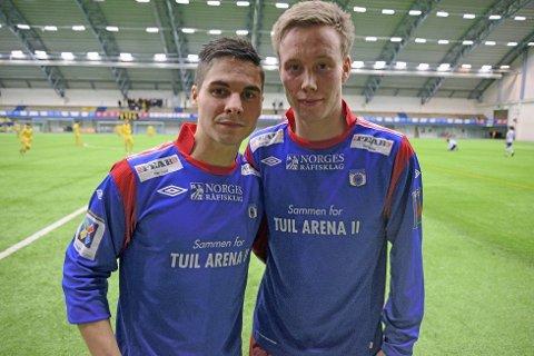 Andreas Sletvold (t.v) og Kim André Råde er tilbake på Mo etter et opphold i TUIL. Begge har scoret mot TIL tidligere. Foto: Stian Høgland, Avisa Nordland