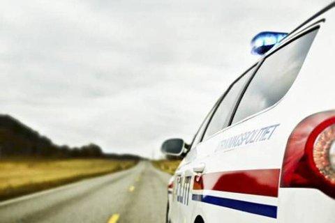 FULGT ETTER: UP-betjentene ble overrasket da de tittet i bakspeilet. Arkivfoto.