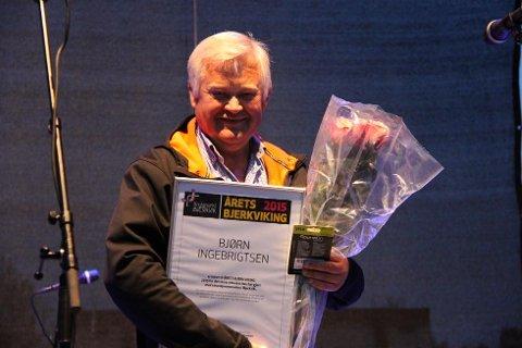 MOTTOK PRIS: Bjørn Ingebrigtsen mottok prisen Årets Bjerkviking.