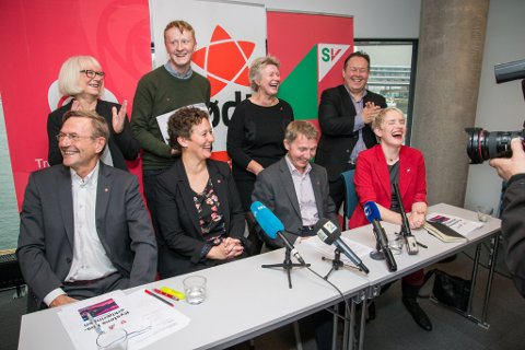 Ap, Rødt og SV legger frem Kystens Hus-erklæringen.