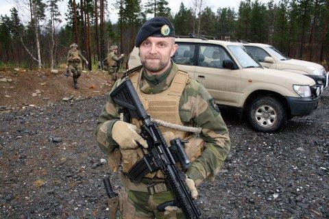 Styrkesjef Erik Elden i pansebataljonen på Setermoen.